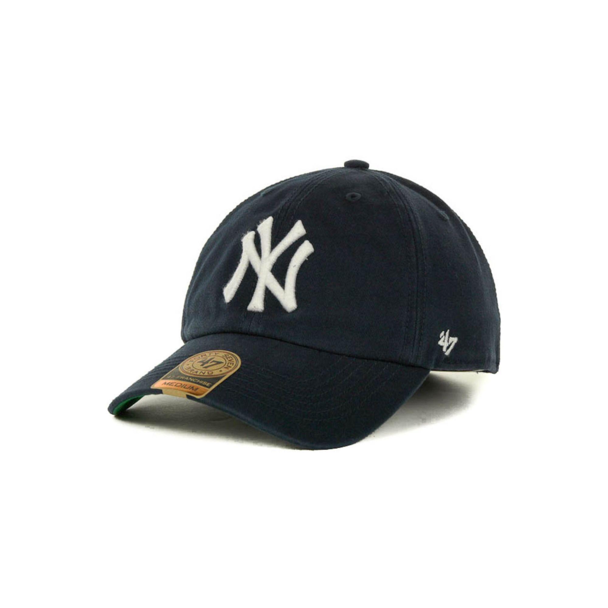 47 brand new york yankees mlb 47 franchise cap in blue for. Black Bedroom Furniture Sets. Home Design Ideas