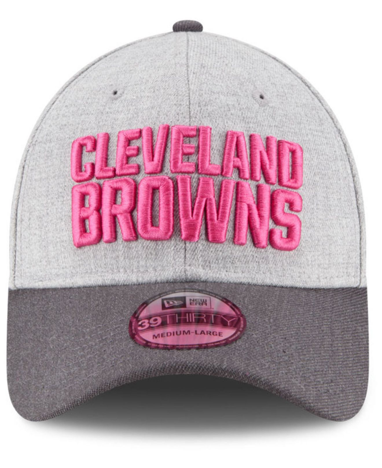 the latest 33fc5 db9e6 Lyst - KTZ Cleveland Browns Breast Cancer Awareness 39thirty Cap in Gray