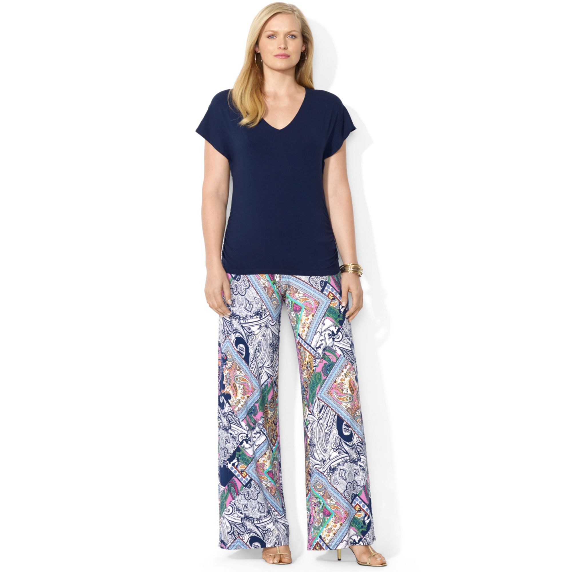 Lauren by ralph lauren Plus Size Wide-leg Paisley-print Pants in ...