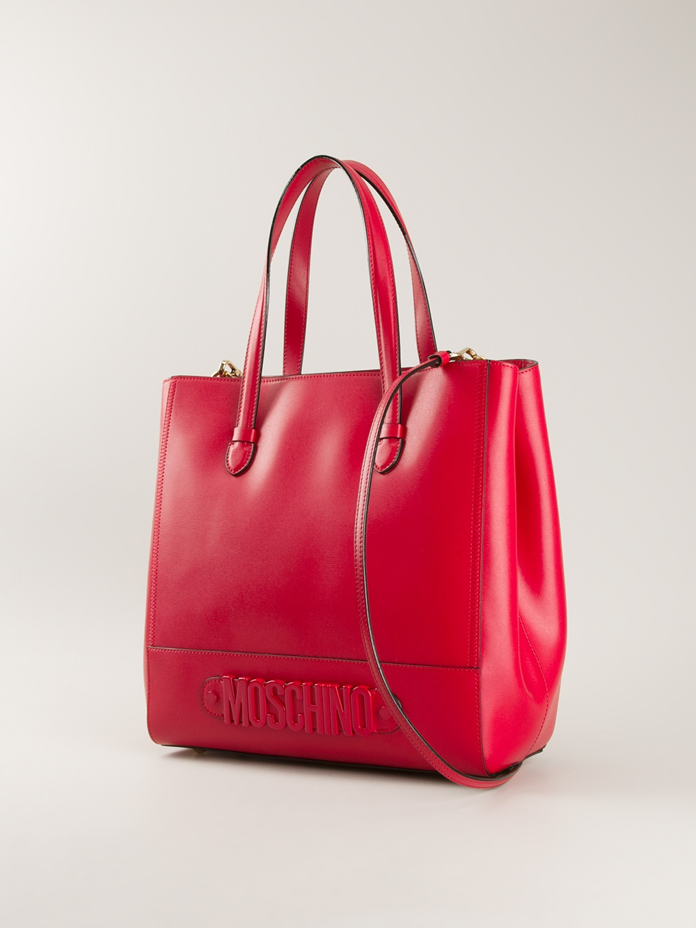 Lyst Moschino Rossella Shopper Tote In Red