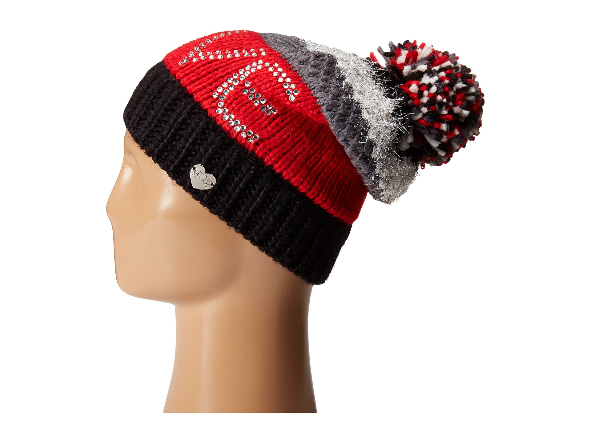 4ca169bf88bb2f Betsey Johnson Love Beanie Hat in Red - Lyst