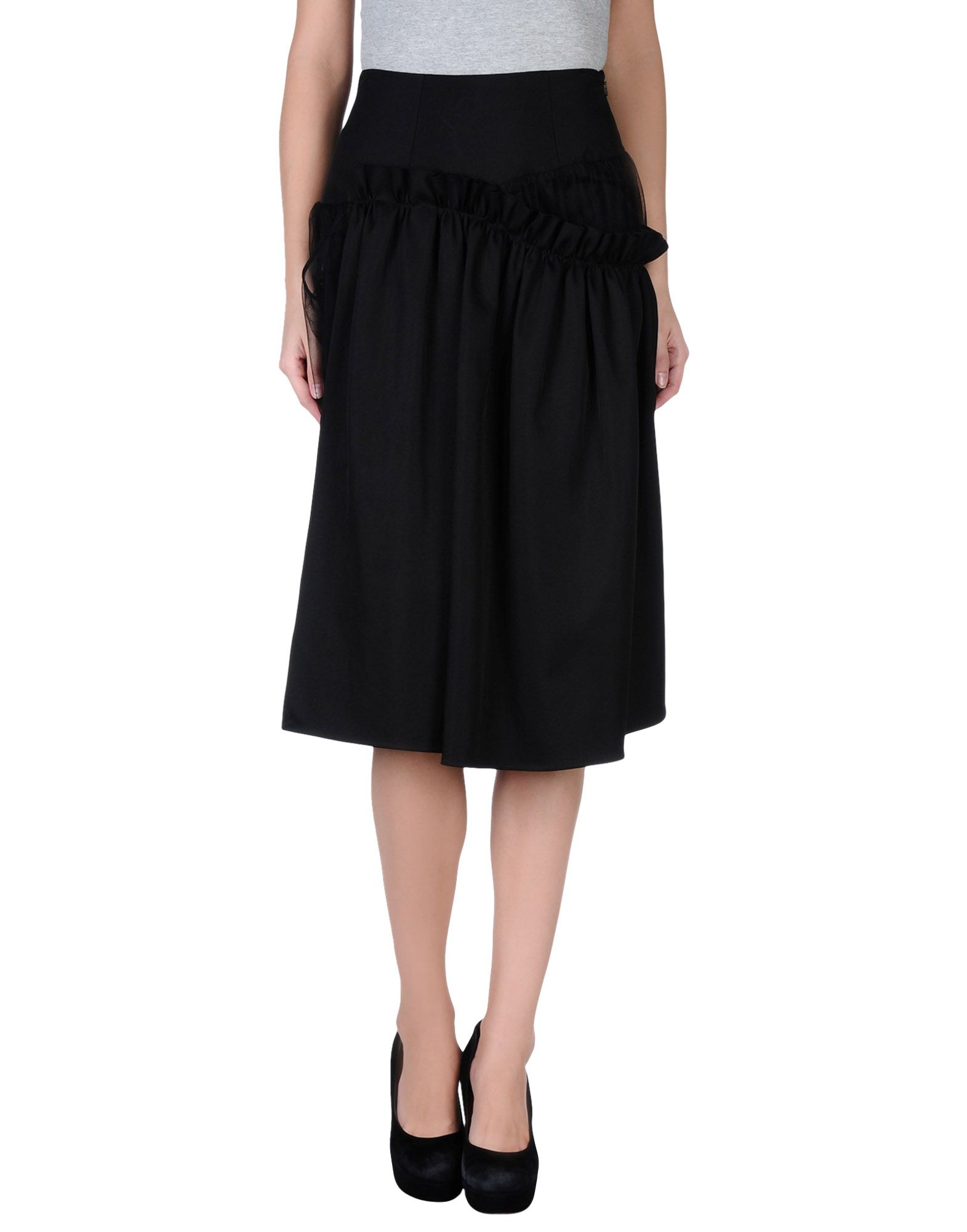 This new black kosher fitness skirt style is the Athletic Skirt in a long silhouette. This mid-calf length a-line skirt with comfortable flat waistband sits above the hip, offering modesty and extra coverage in a super-slimming and flattering style.