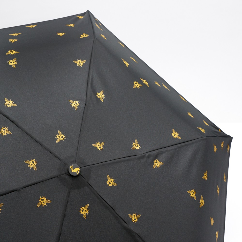 joules bee print folding umbrella in black lyst