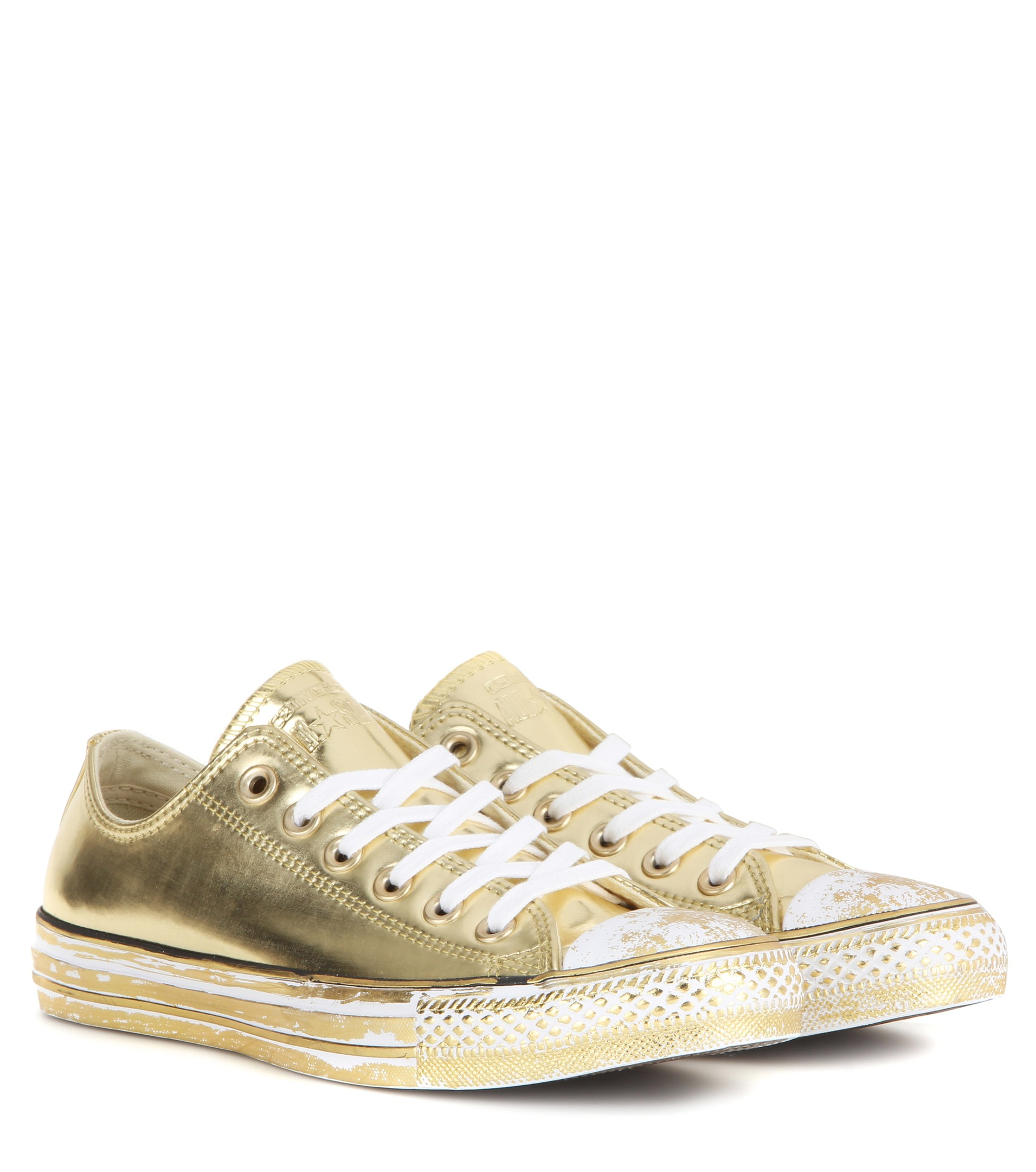 lyst converse chuck taylor all star metallic sneakers in metallic. Black Bedroom Furniture Sets. Home Design Ideas