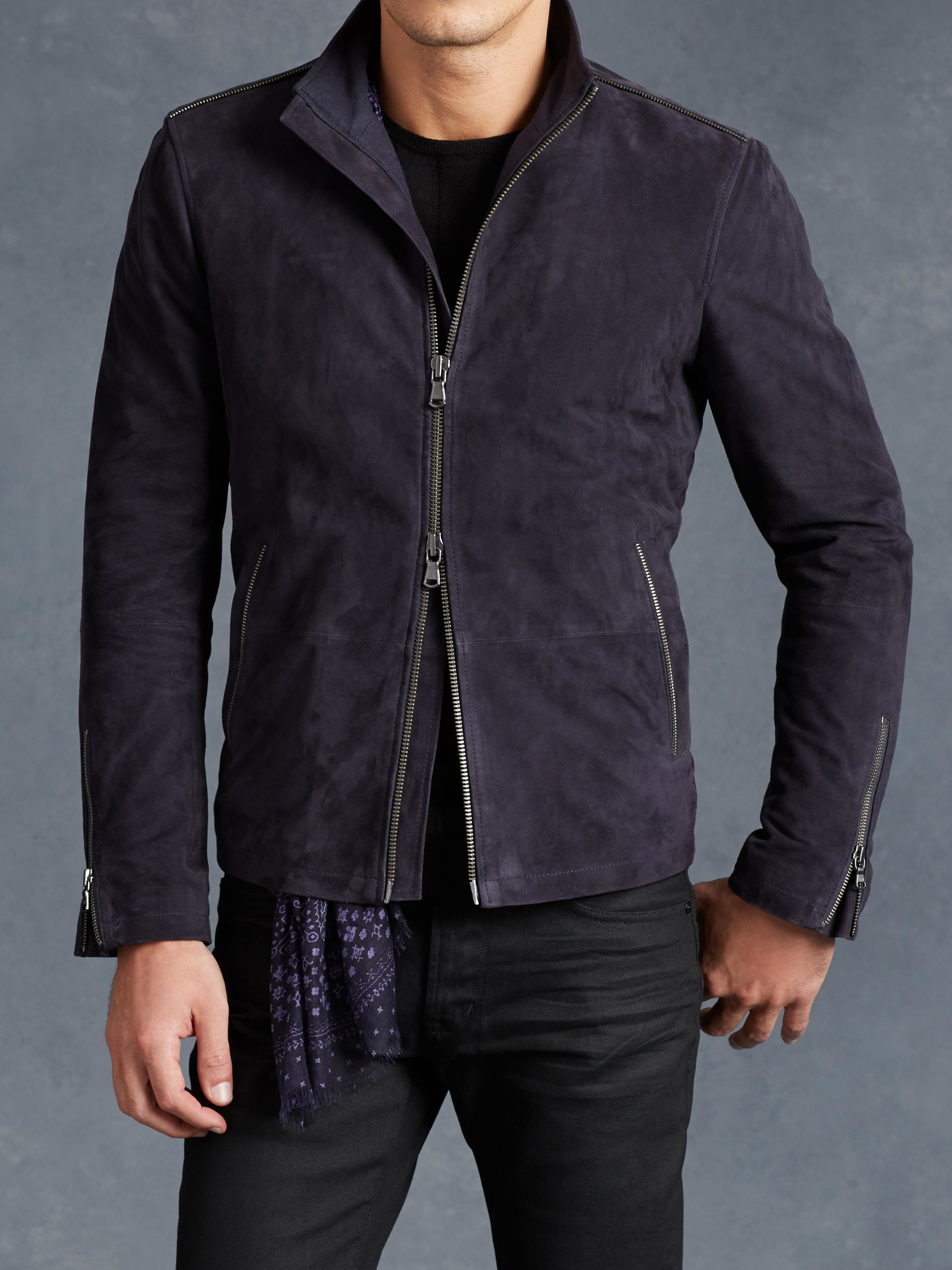 biker jacket - Blue John Varvatos Low Cost Sale Online Sale Reliable Purchase For Sale Really Cheap Wholesale YVLyKn0