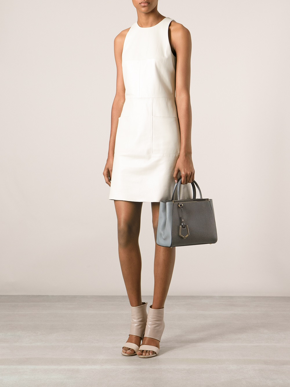 Lyst Fendi Small 2jours Tote In Gray