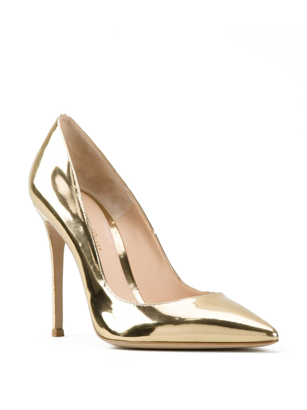 Lyst - Gianvito rossi Metallic Gold Pumps in Metallic