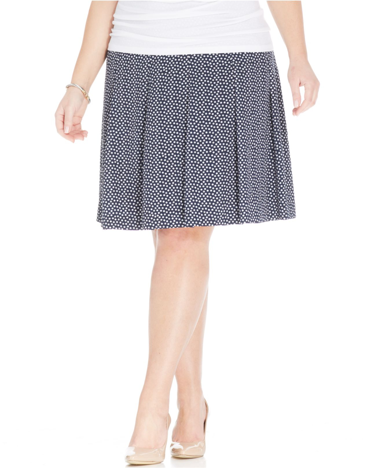 jones new york collection plus size printed pleated a line