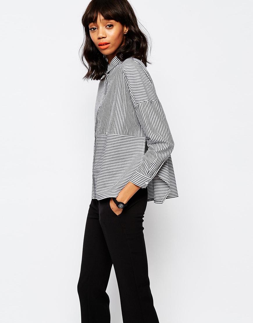 Striped Blouse - Stripes Monki Cheap Price Outlet b0uZl9Lde