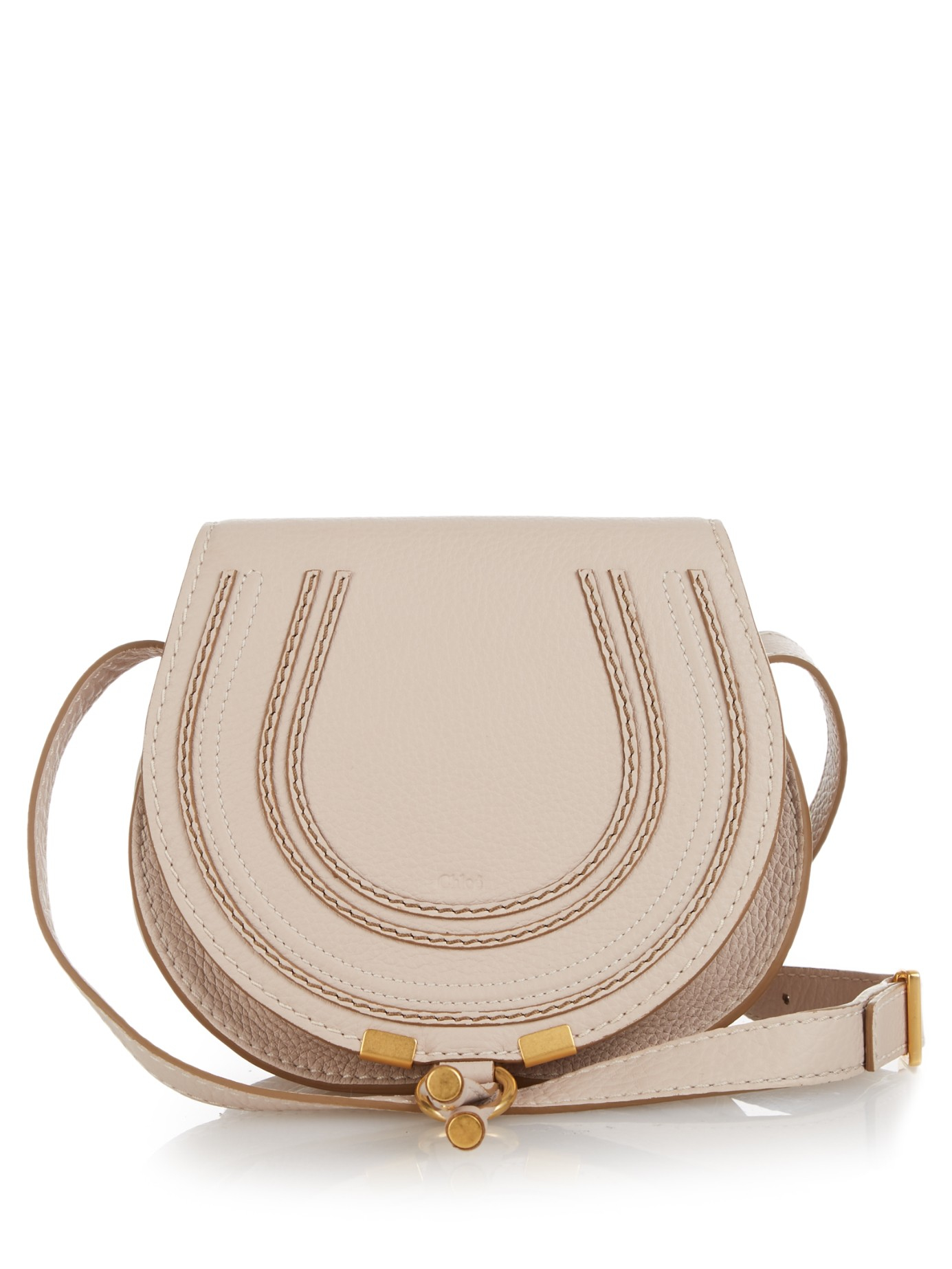 Chlo¨¦ Marcie Mini Leather Cross-body Bag in Beige (CREAM) | Lyst