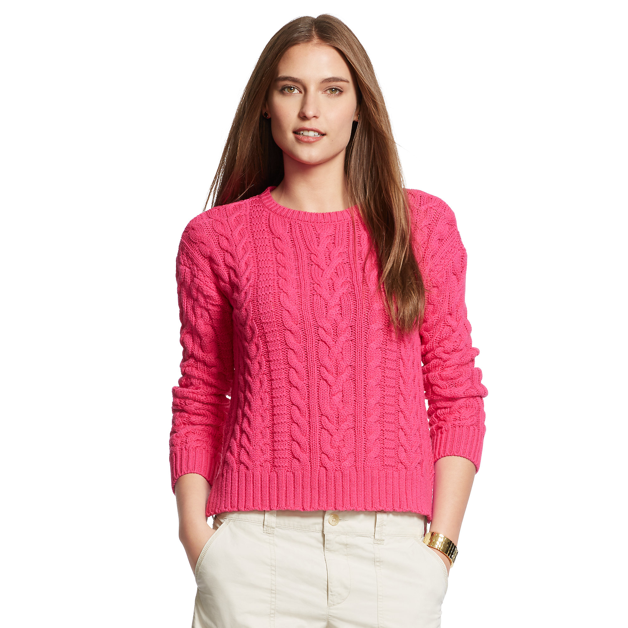 Pink Cotton Sweater Coat Nj