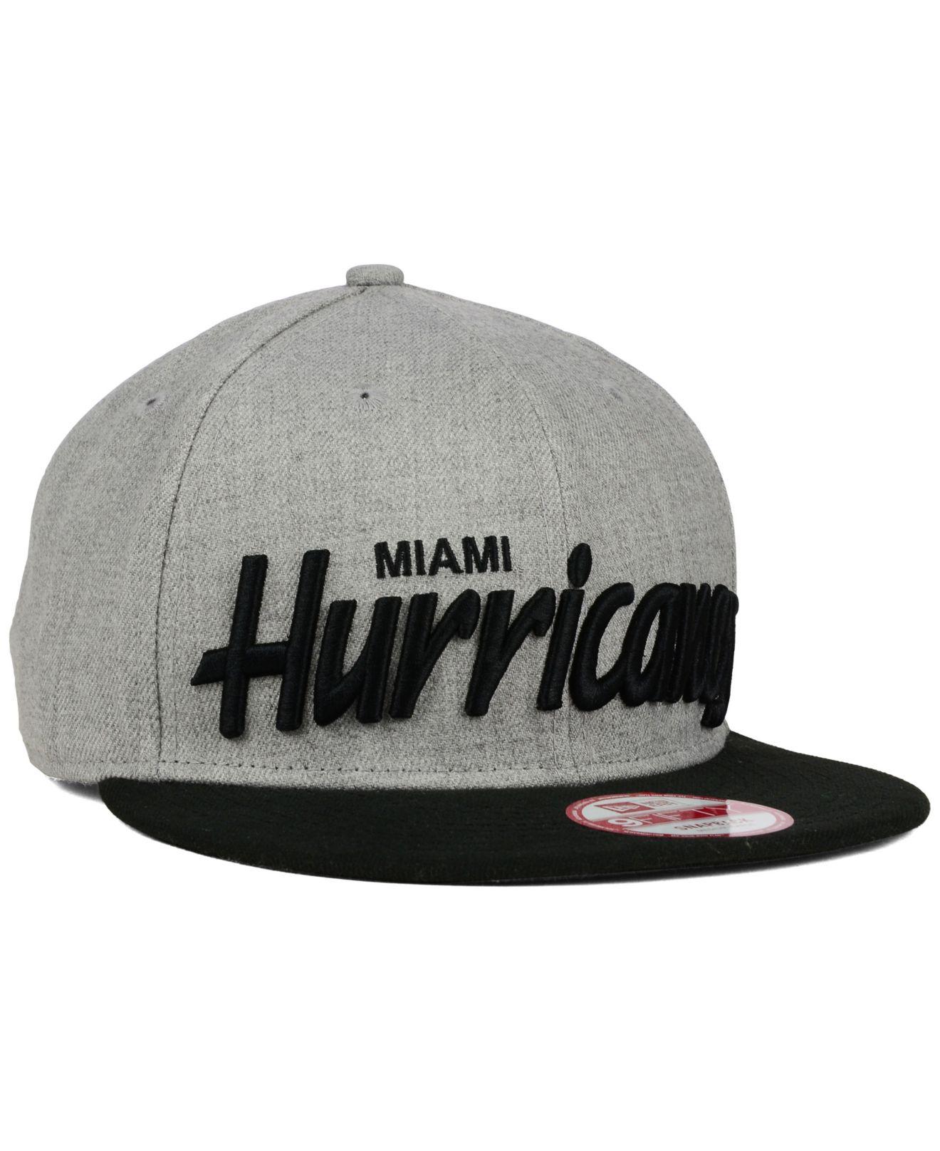 d6b2894ad4e Lyst - KTZ Miami Hurricanes Script It 9Fifty Snapback Cap in Gray