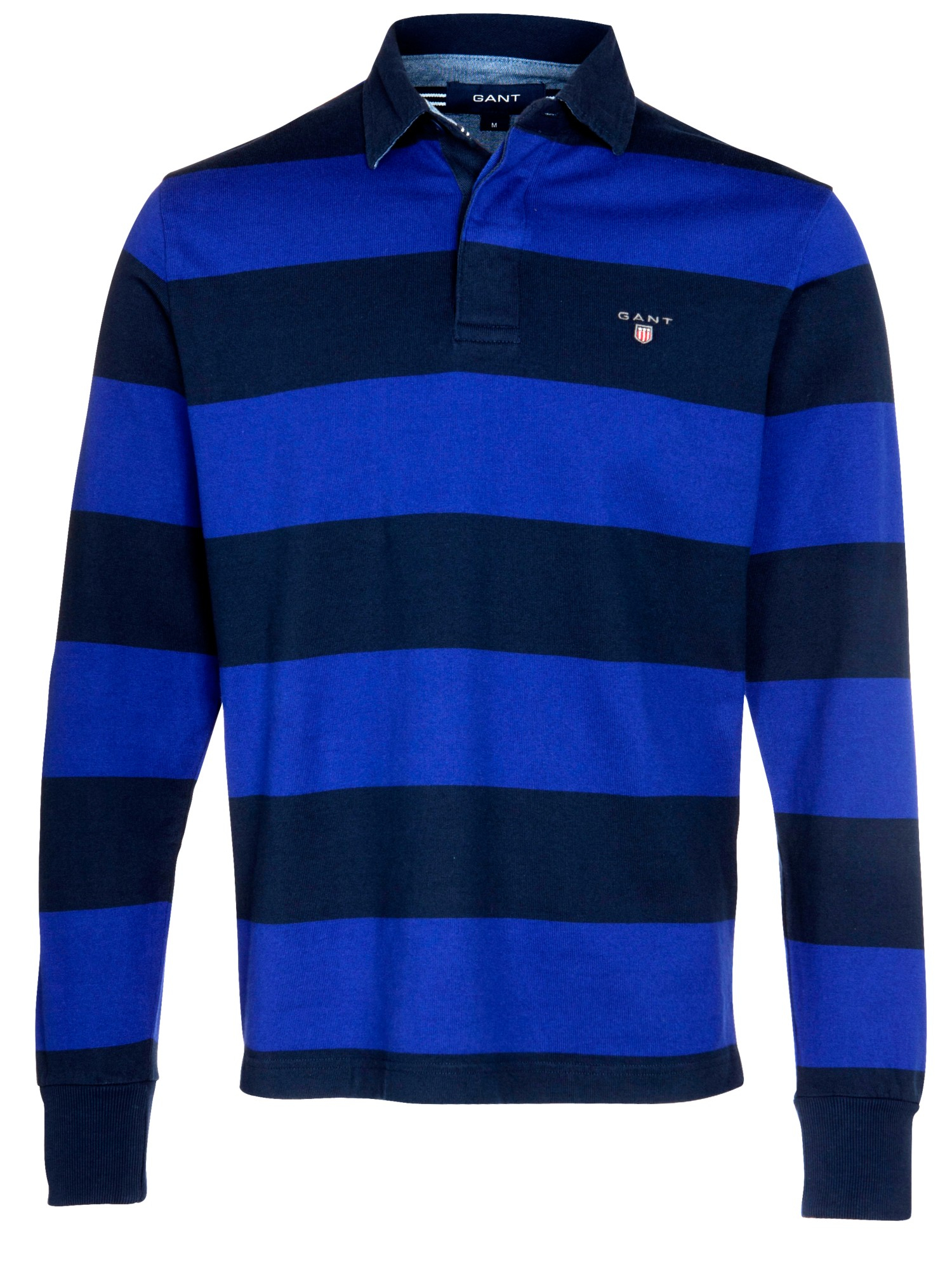 Long Sleeve Striped Custom Rugby Shirt. Tailored construction and fashion knit collar. Made of 8 oz, % USA cotton with 4