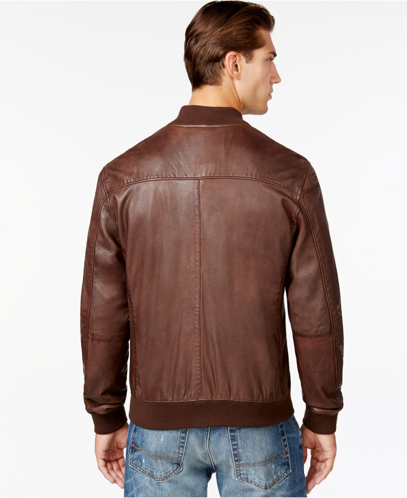 Brand leather jacket