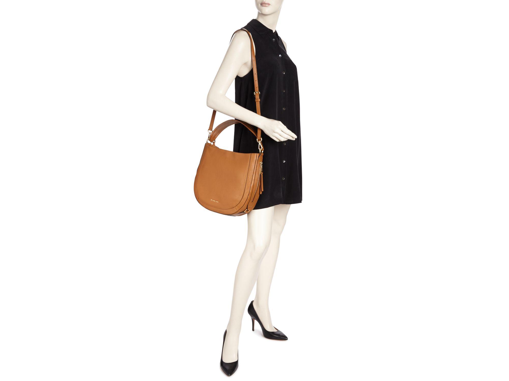 11ede3b08163 MICHAEL Michael Kors Julia Convertible Shoulder Bag in Brown - Lyst