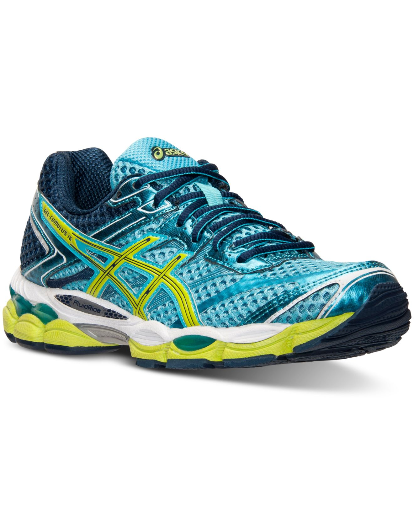 asics women 39 s gel cumulus 16 2a running sneakers from finish line in blue for men lyst. Black Bedroom Furniture Sets. Home Design Ideas