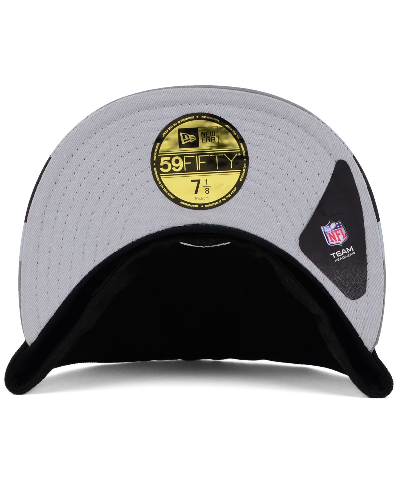 ac02ac670 Lyst - KTZ Oakland Raiders Visor Stripe 59Fifty Cap in Black for Men