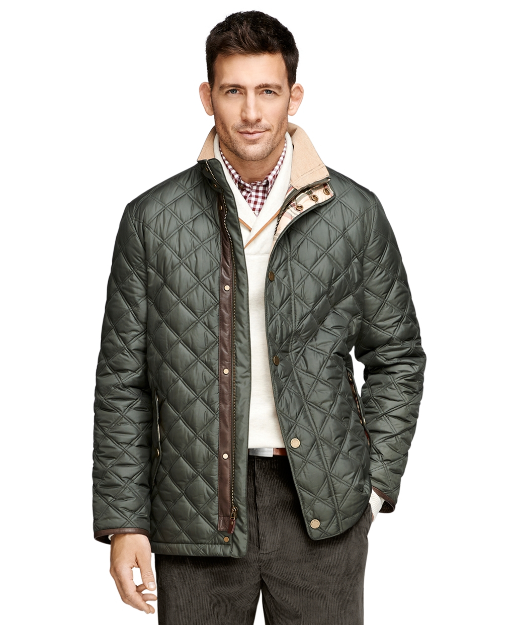 Brooks brothers Quilted Jacket in Green for Men | Lyst