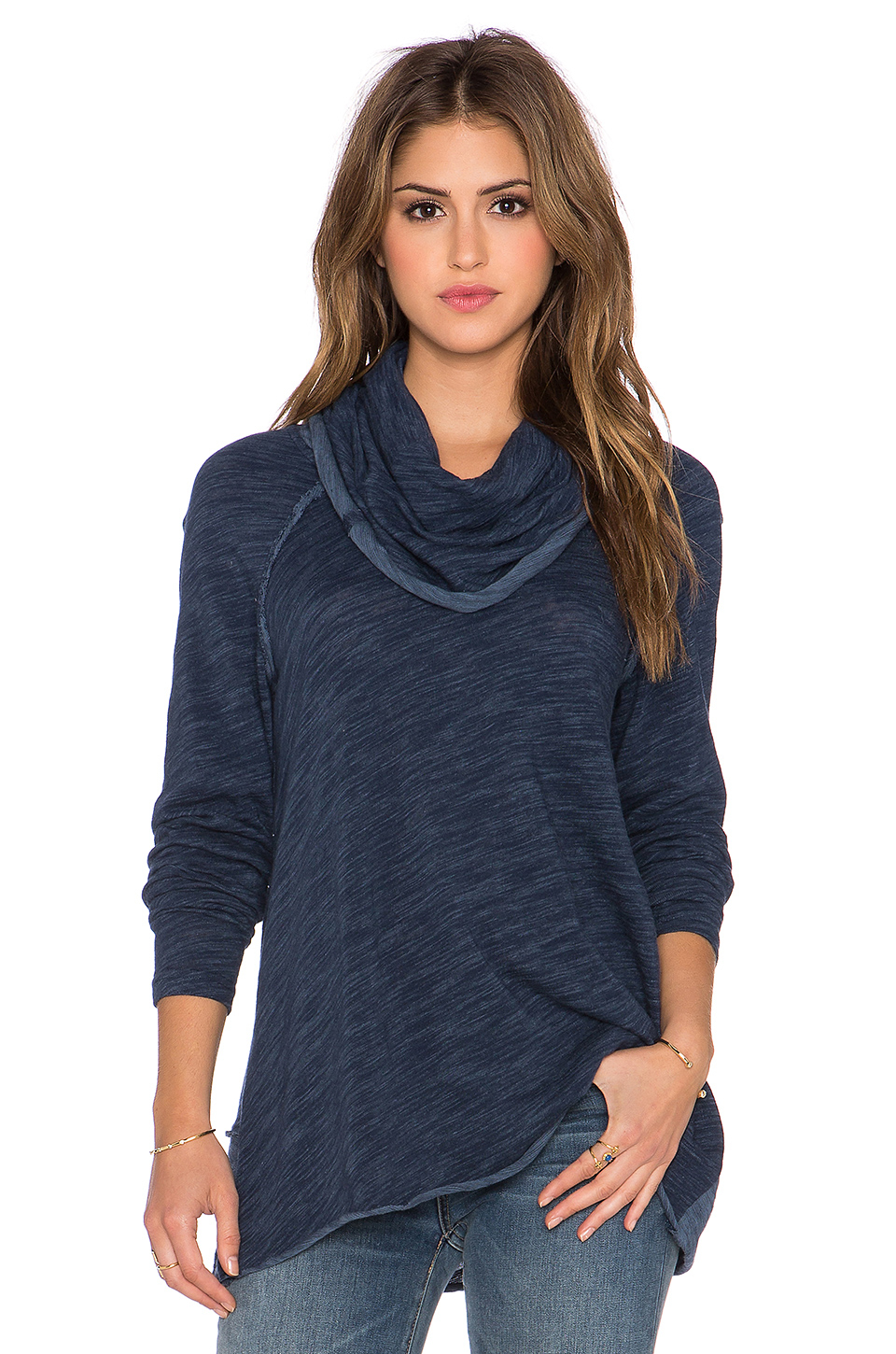 Free People Cocoon Cowl Neck Sweater In Blue Lyst
