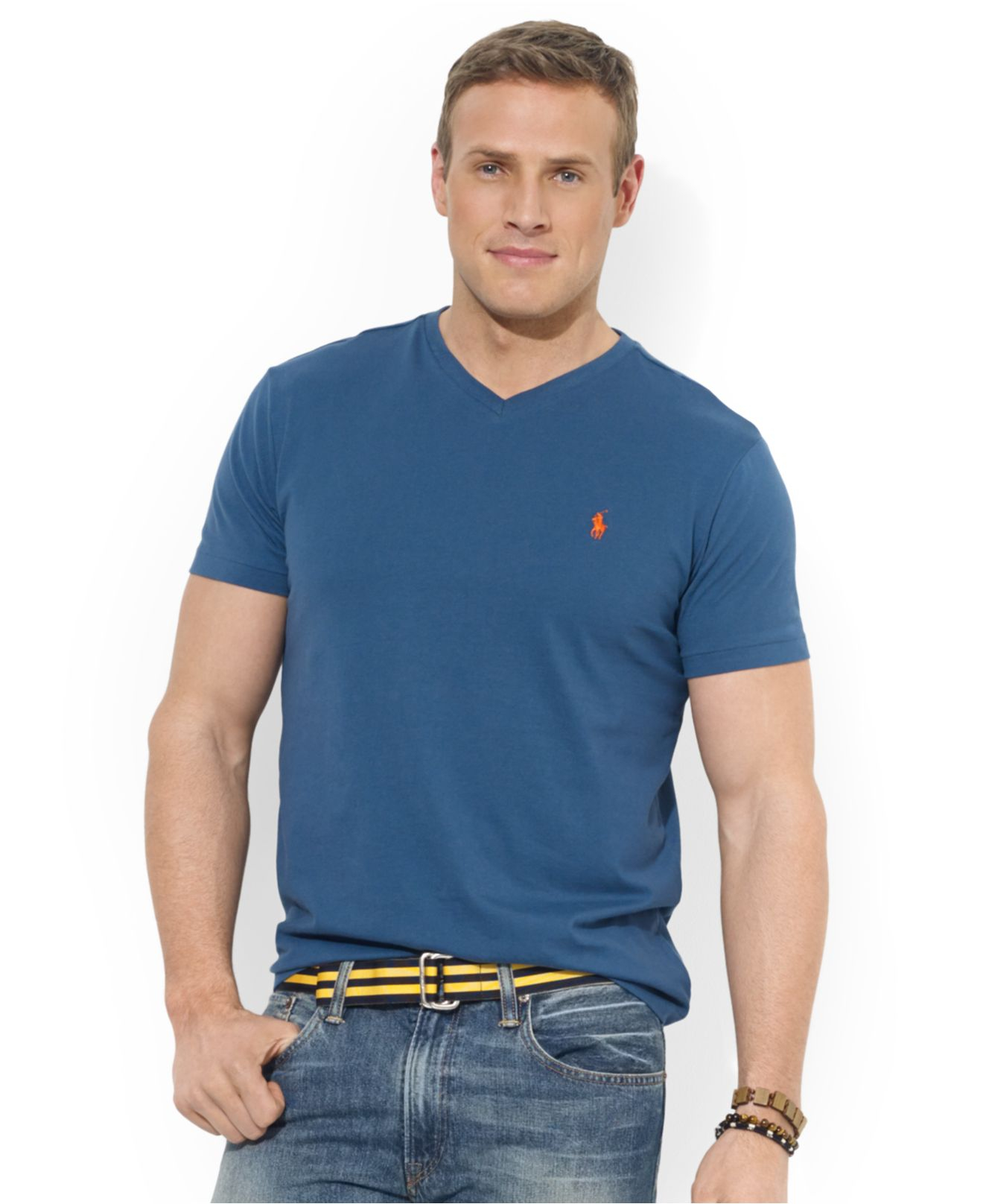 57f68bbe6 Polo Ralph Lauren Big And Tall Classic-fit V-neck Short-sleeve ...