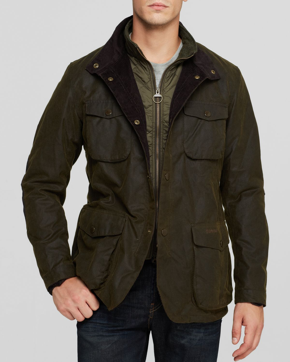 Lyst Barbour Ogston Waxed Cotton Heavyweight Jacket In