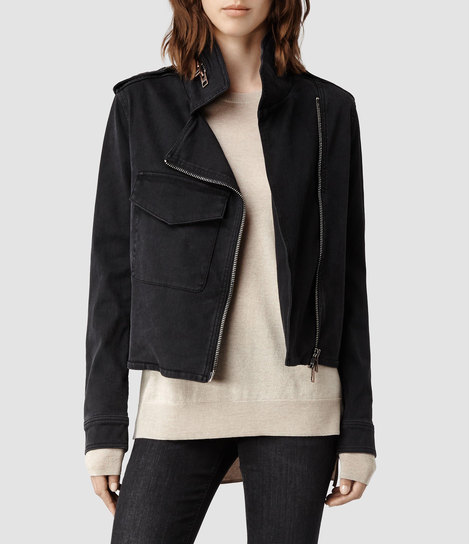 Allsaints Hendon Denim Jacket in Black   Lyst