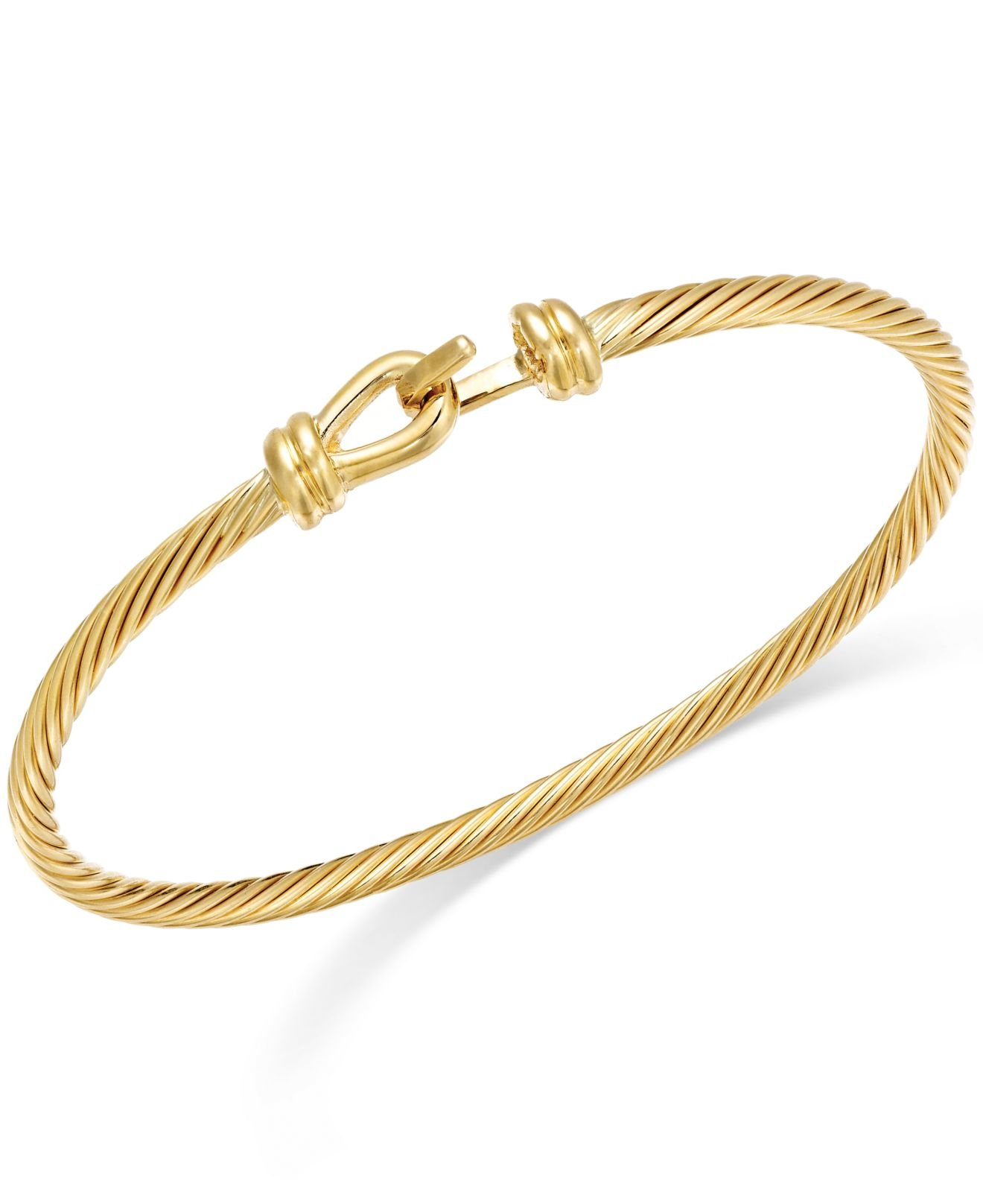 macy s pandora bracelet lyst macy s twisted cable bangle bracelet in 14k gold in 6950