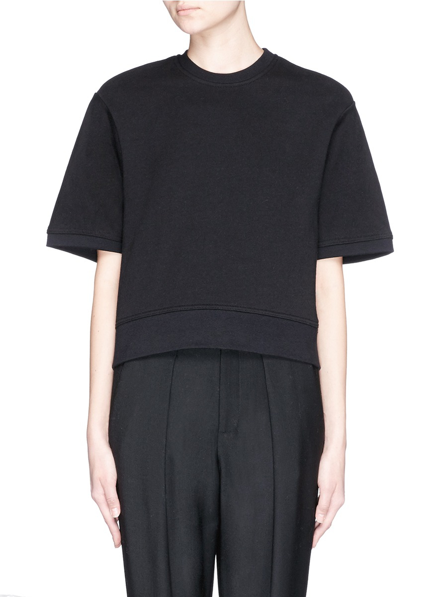 T by alexander wang rolled sleeve t shirt in black lyst for T by alexander wang t shirt