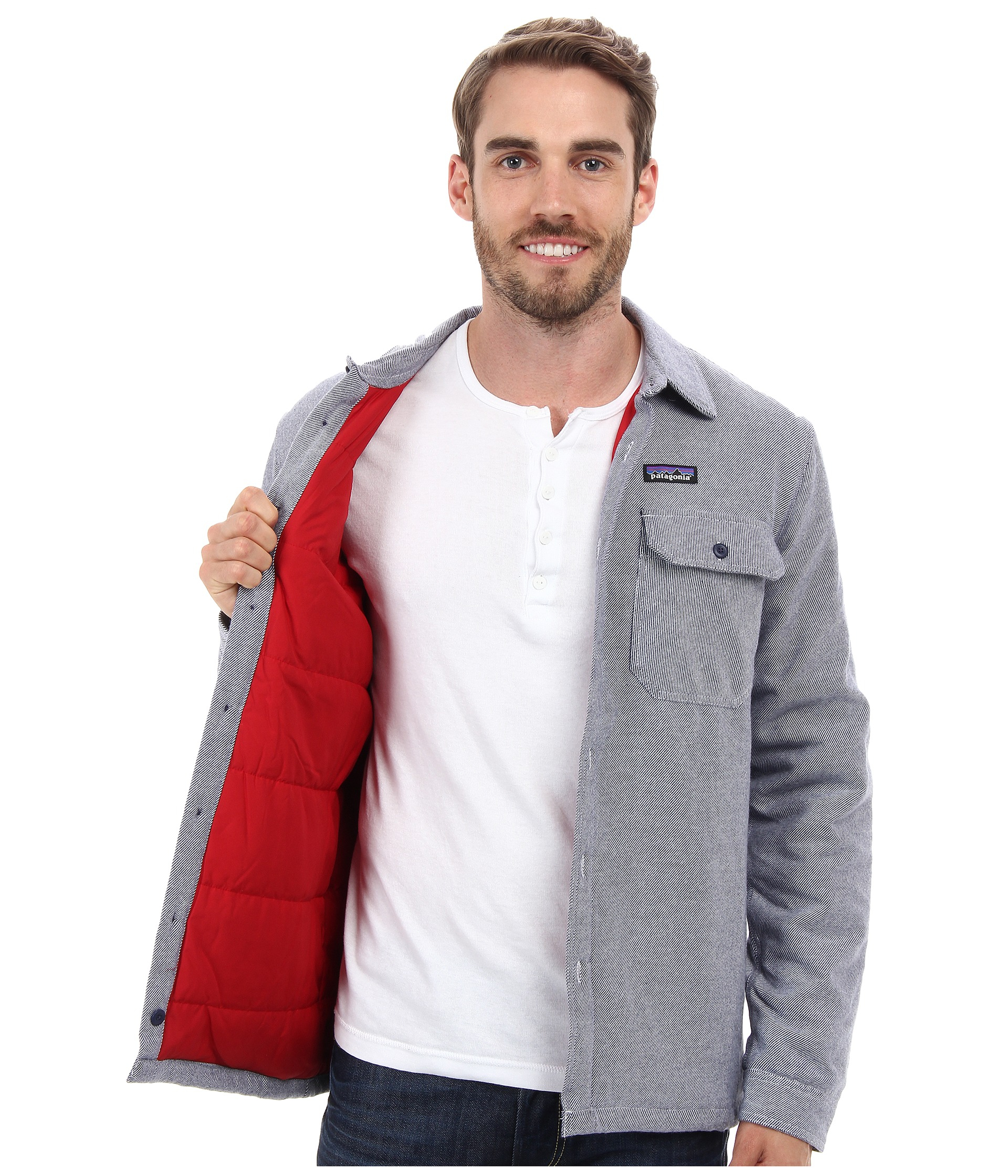 bfdcbfb81e9 Lyst - Patagonia Insulated Fjord Flannel Jacket in Blue for Men