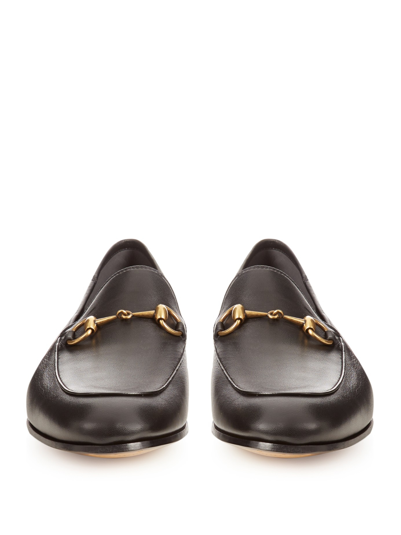 a6e6834aa33 Lyst - Gucci Brixton Leather Loafers in Black for Men
