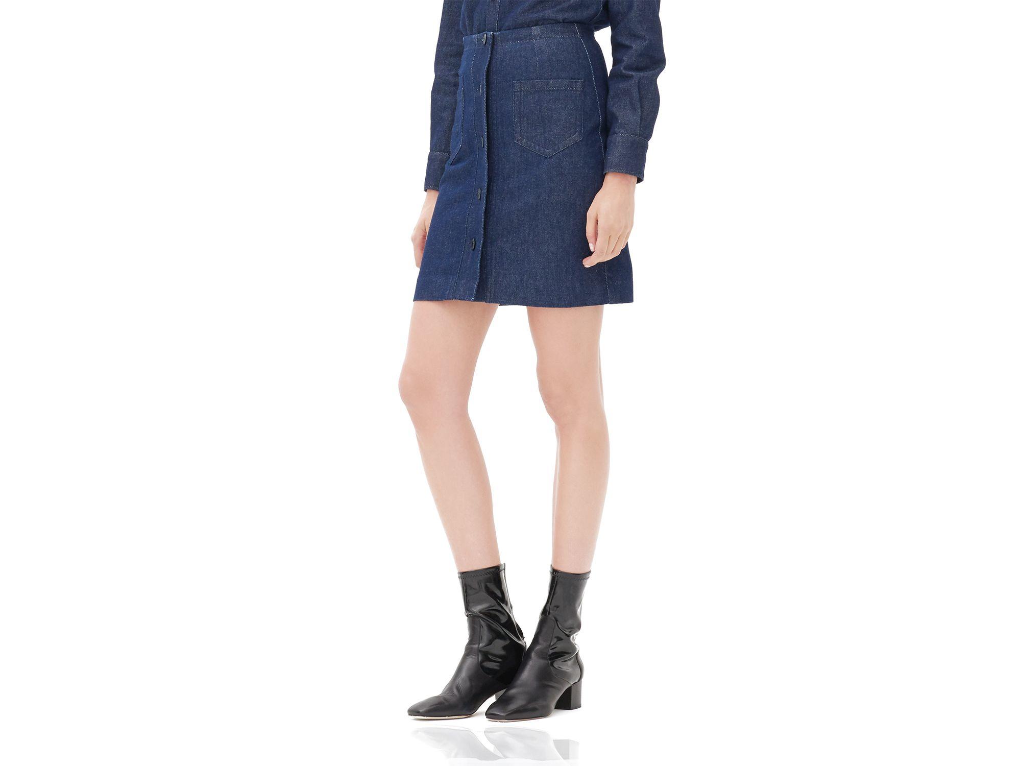b29f0ae909 Sandro Jasmina Denim Skirt in Blue - Lyst
