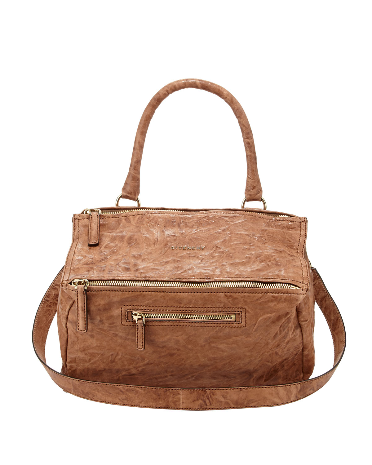 Givenchy Pandora Medium Old Pepe Satchel Bag Medium Brown ...