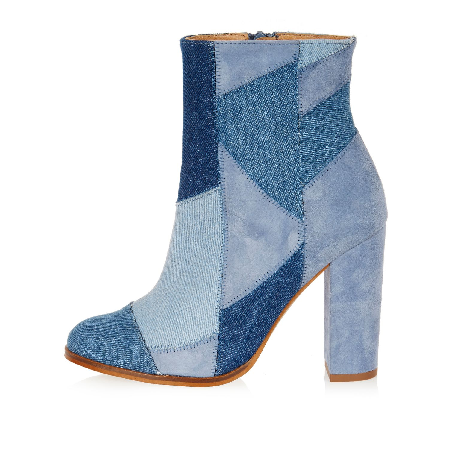 Patchwork Boots River Island