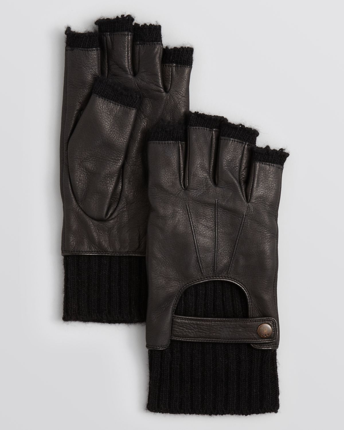 Fingerless leather gloves mens accessories - Gallery Previously Sold At Bloomingdale S Men S Leather Gloves