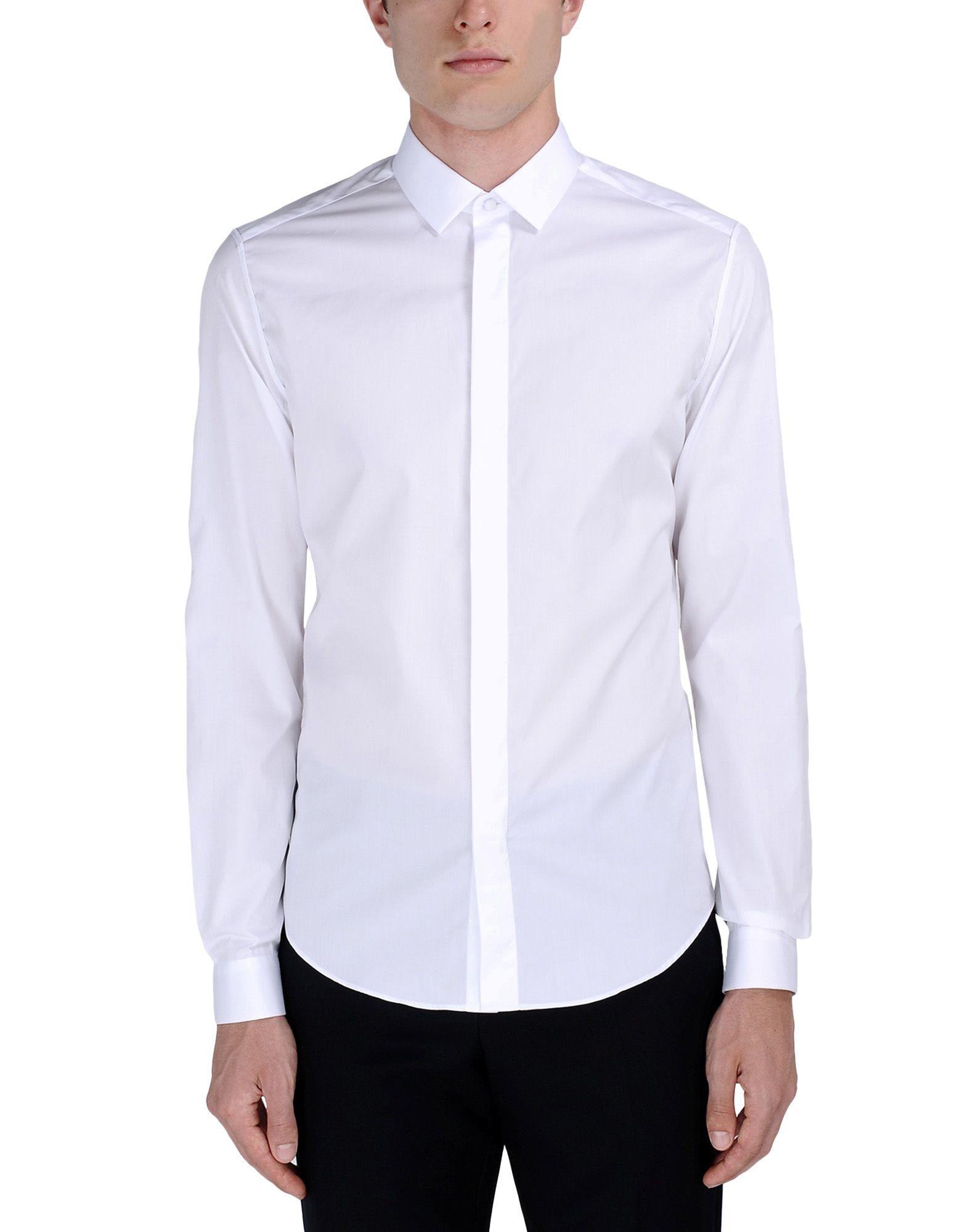 Valentino Long Sleeve Shirt in White for Men | Lyst