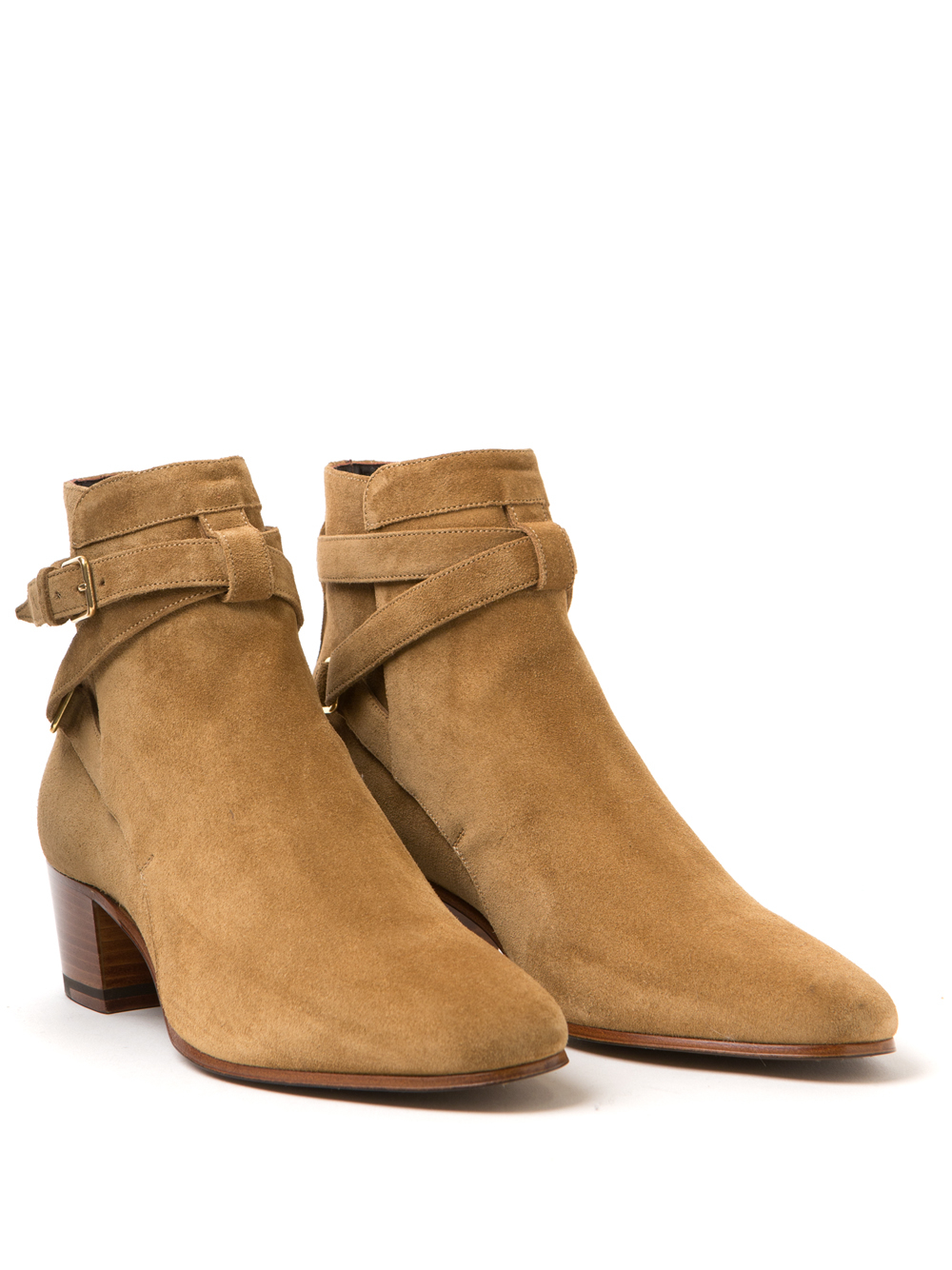Saint Laurent Blake 40 Bottes Jodhpur - Marron Eyd8rLj