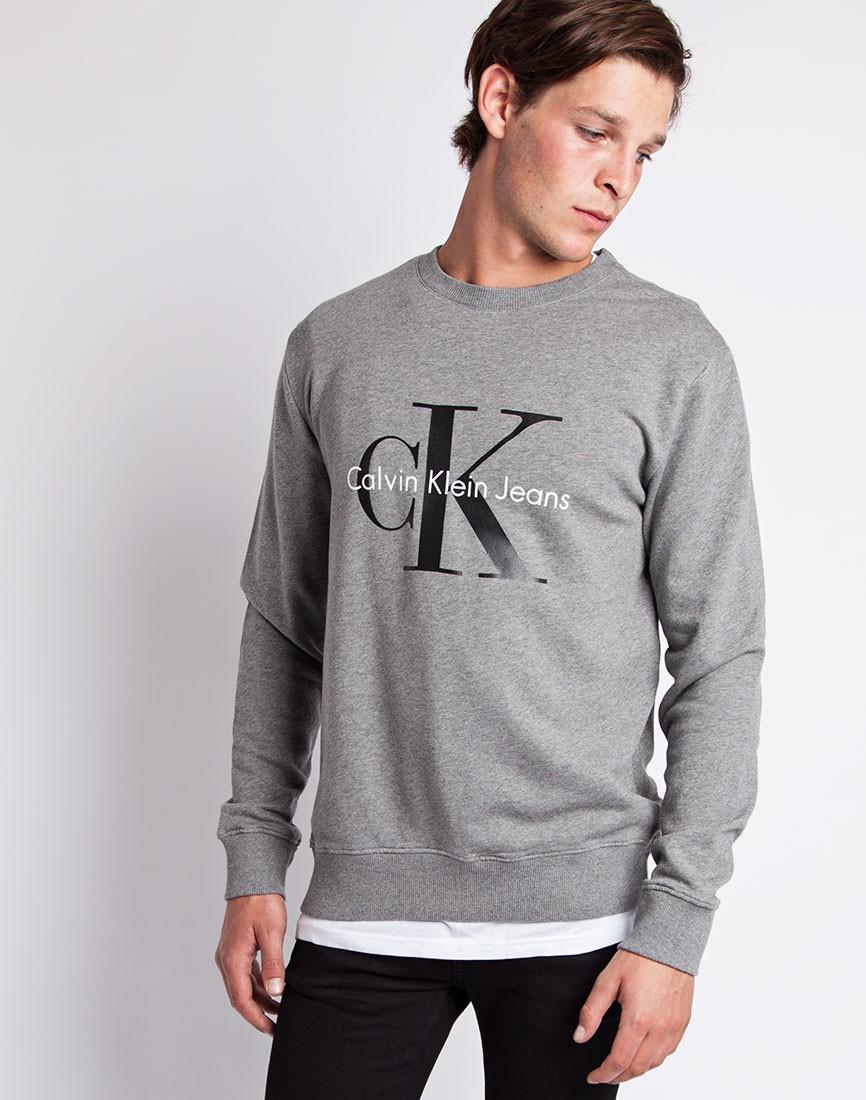 339ab3c8ef8 Lyst - Calvin Klein Jeans Classic Sweatshirt Grey in Gray for Men