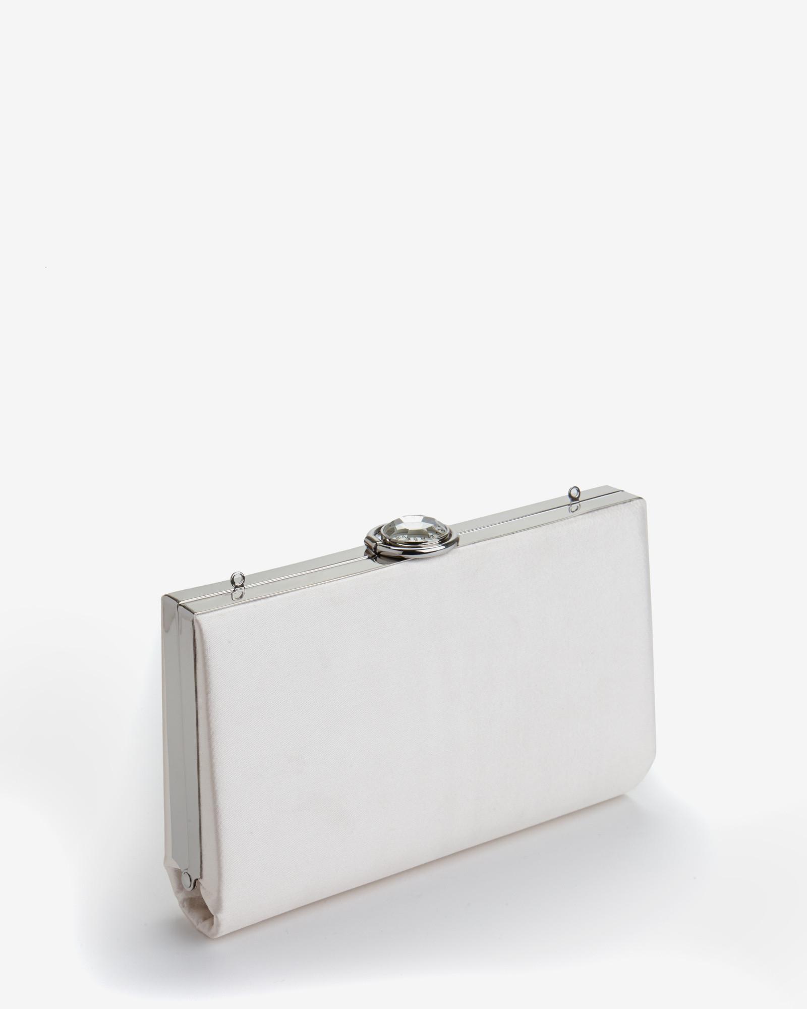 Lyst - Ted Baker Embellished Hard Case Clutch Bag in Gray c4b2b4eeb
