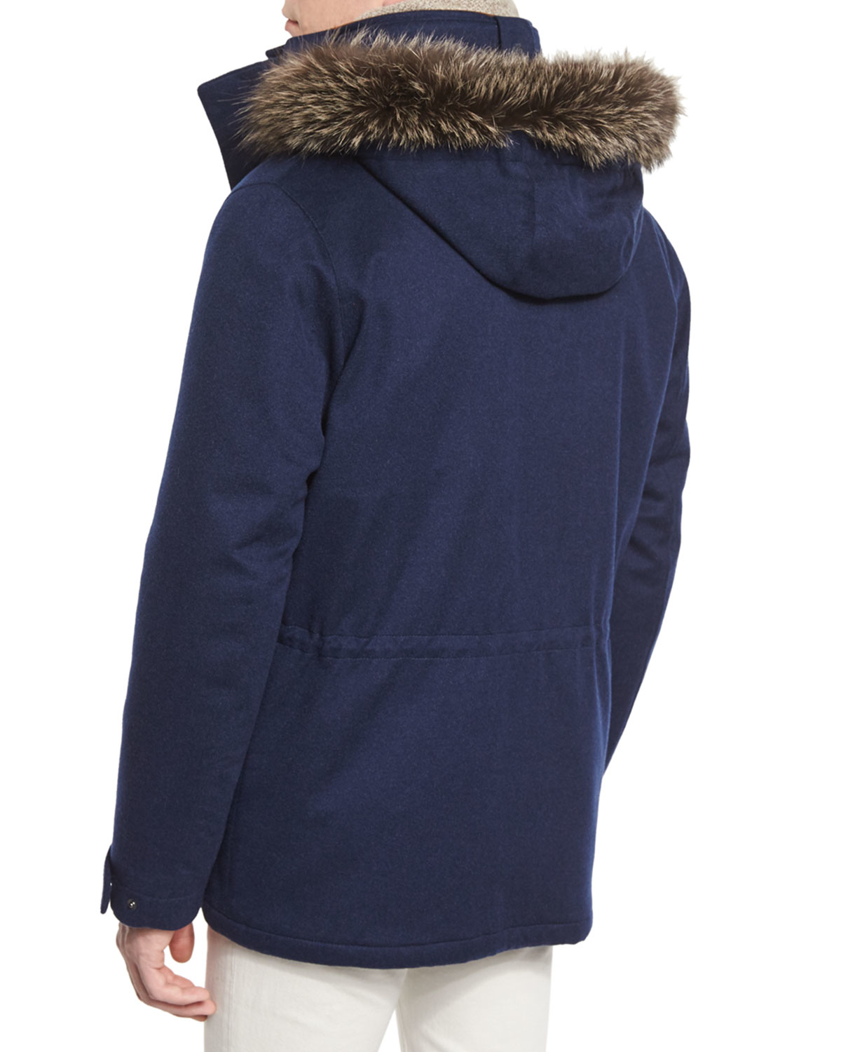Lyst Loro Piana Icer Cashmere Storm Jacket With Fur