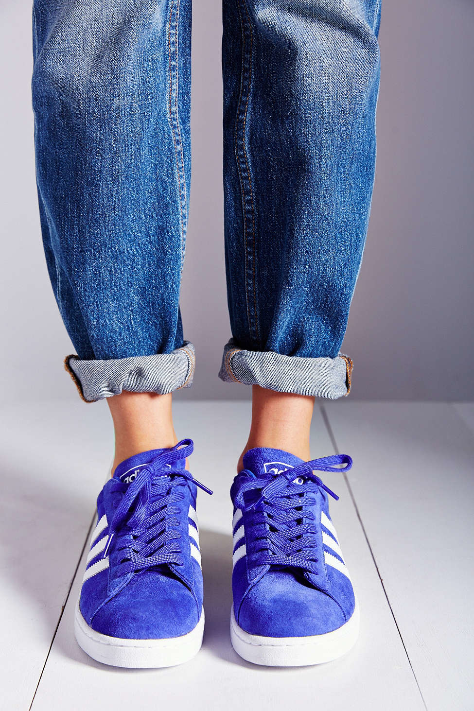 Lyst - adidas Originals Campus 2 Suede Sneaker in Blue 302adc4b40