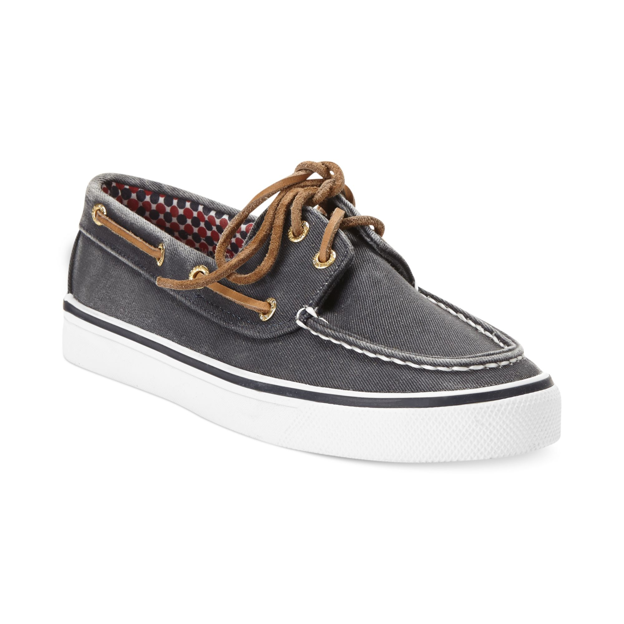 sperry top sider womens bahama boat shoes in gray grey