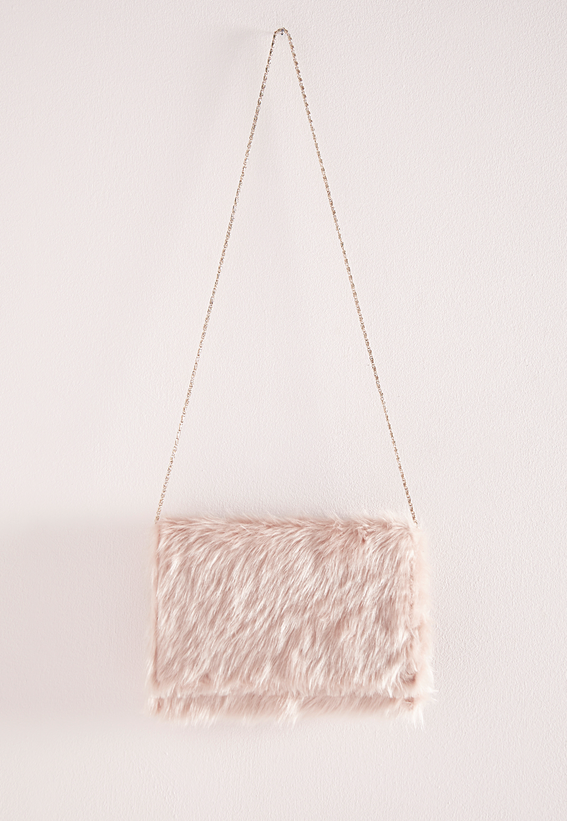 Lyst - Missguided Faux Fur Clutch Pink in Pink 3a1a33ea38bff
