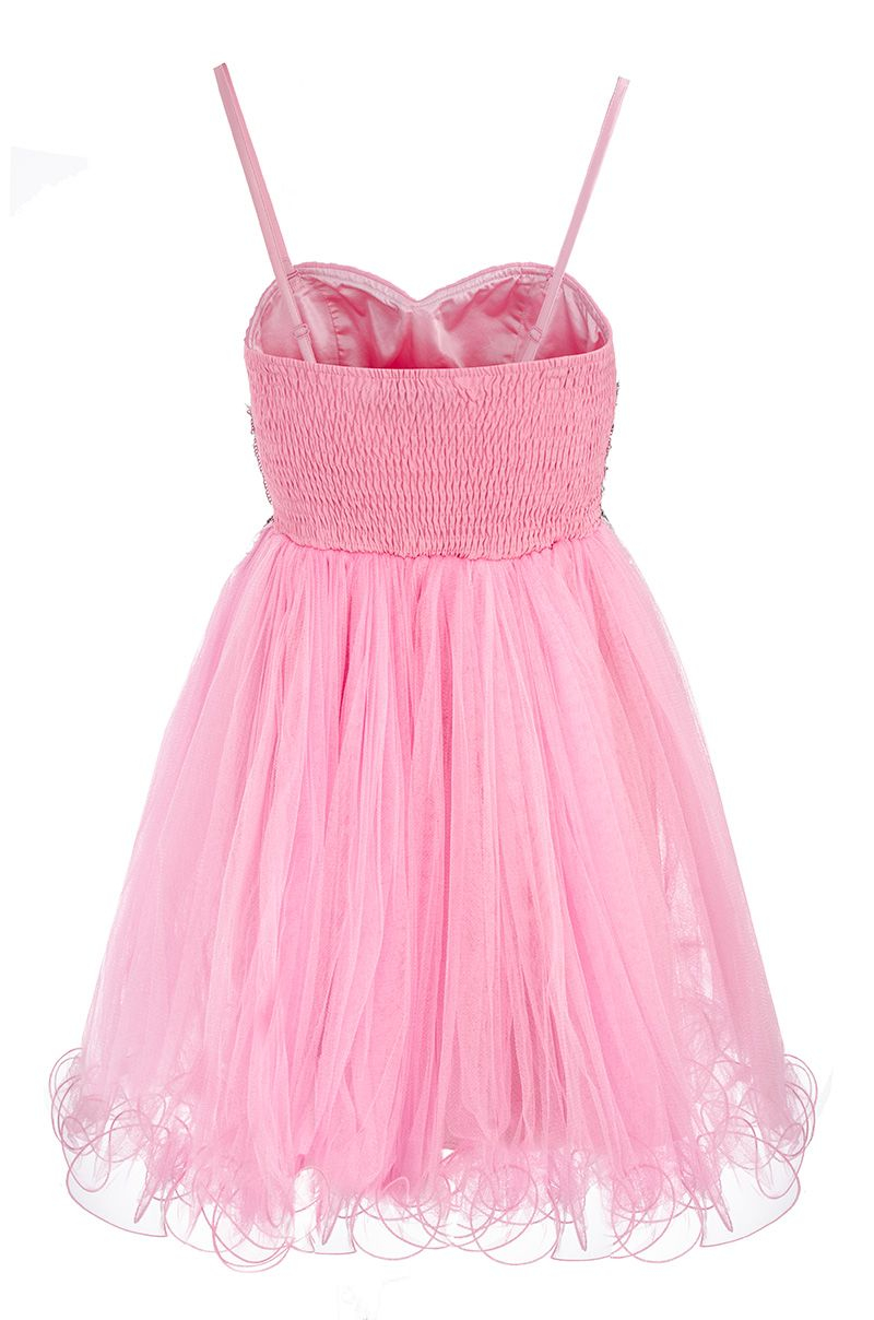 Quiz Sequin and Jewel Prom Dress in Pink - Lyst