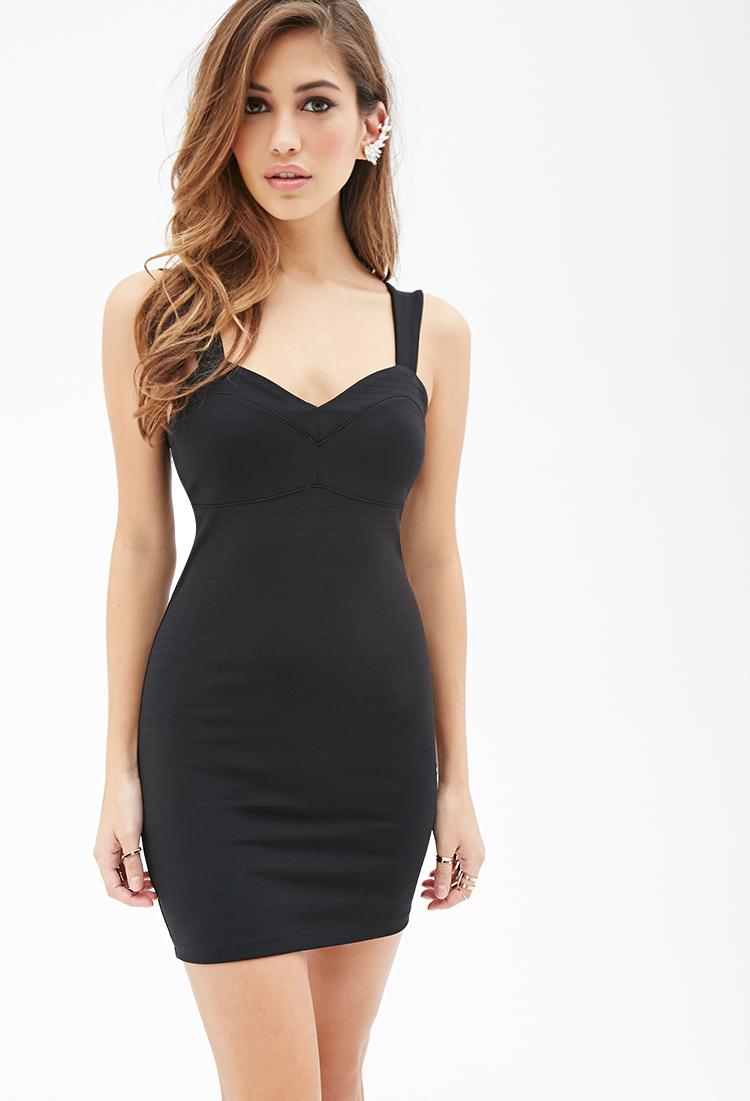 Black bodycon dress forever 21 united states ecommerce