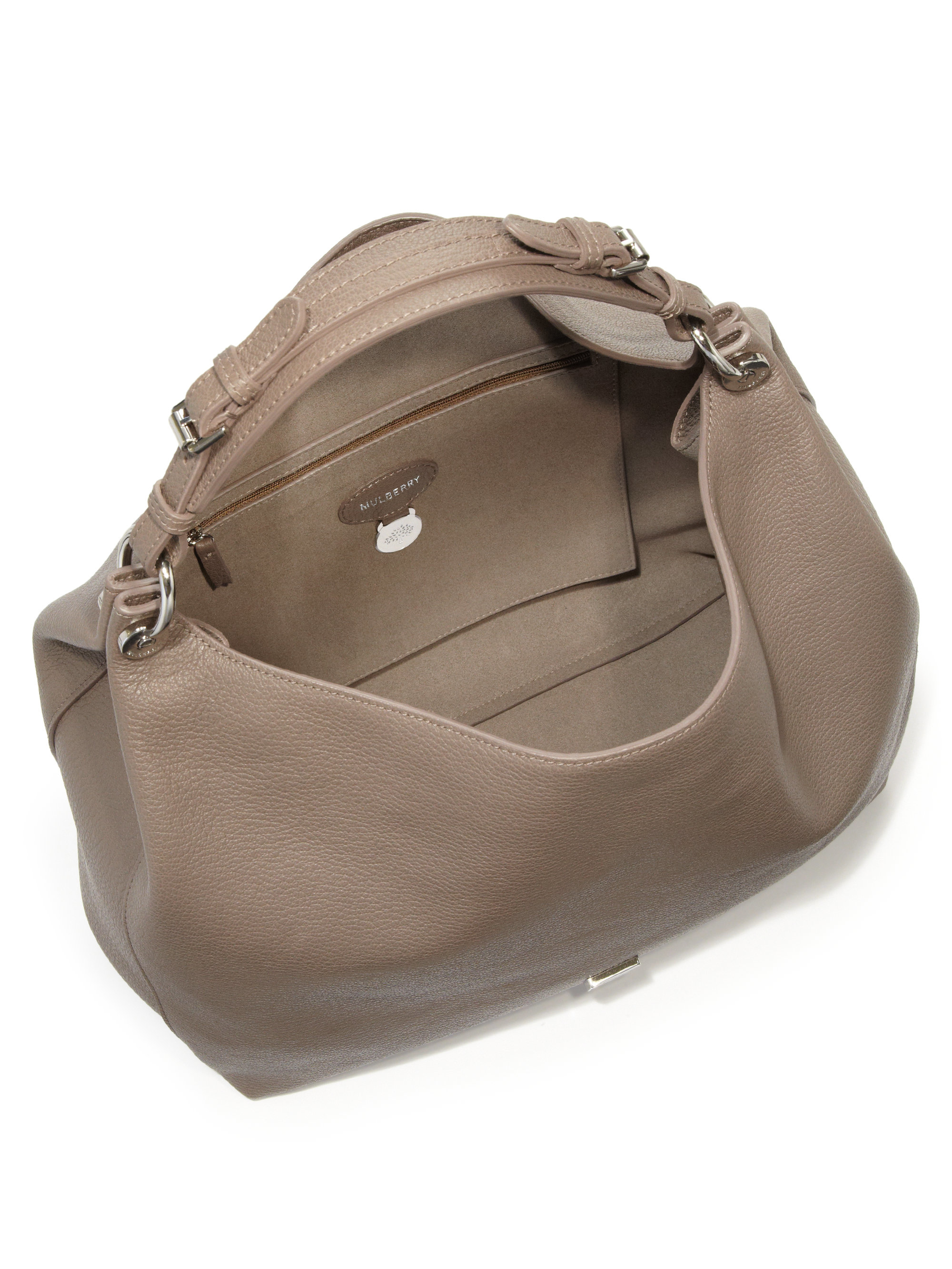 ... inexpensive lyst mulberry freya leather hobo bag in gray 7b1a0 604c9 428686d56853f