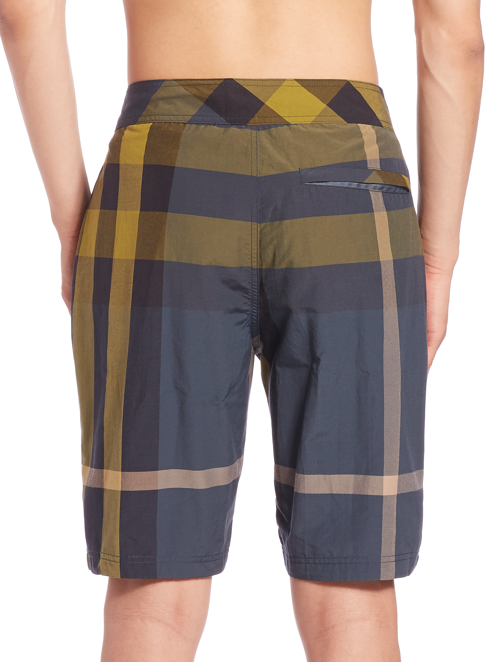 1499bf6b43 Burberry Brit Laguna Check Swim Shorts in Blue for Men - Lyst