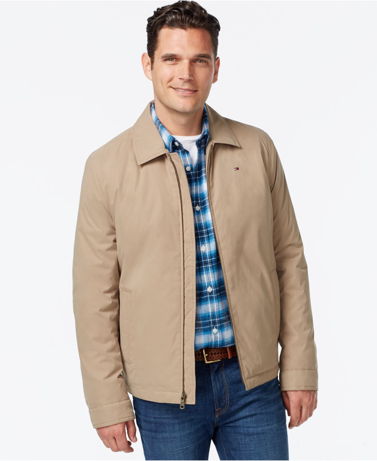 ea4c5046d24 Lyst - Tommy Hilfiger Big   Tall Full-zip Micro-twill Jacket in ...