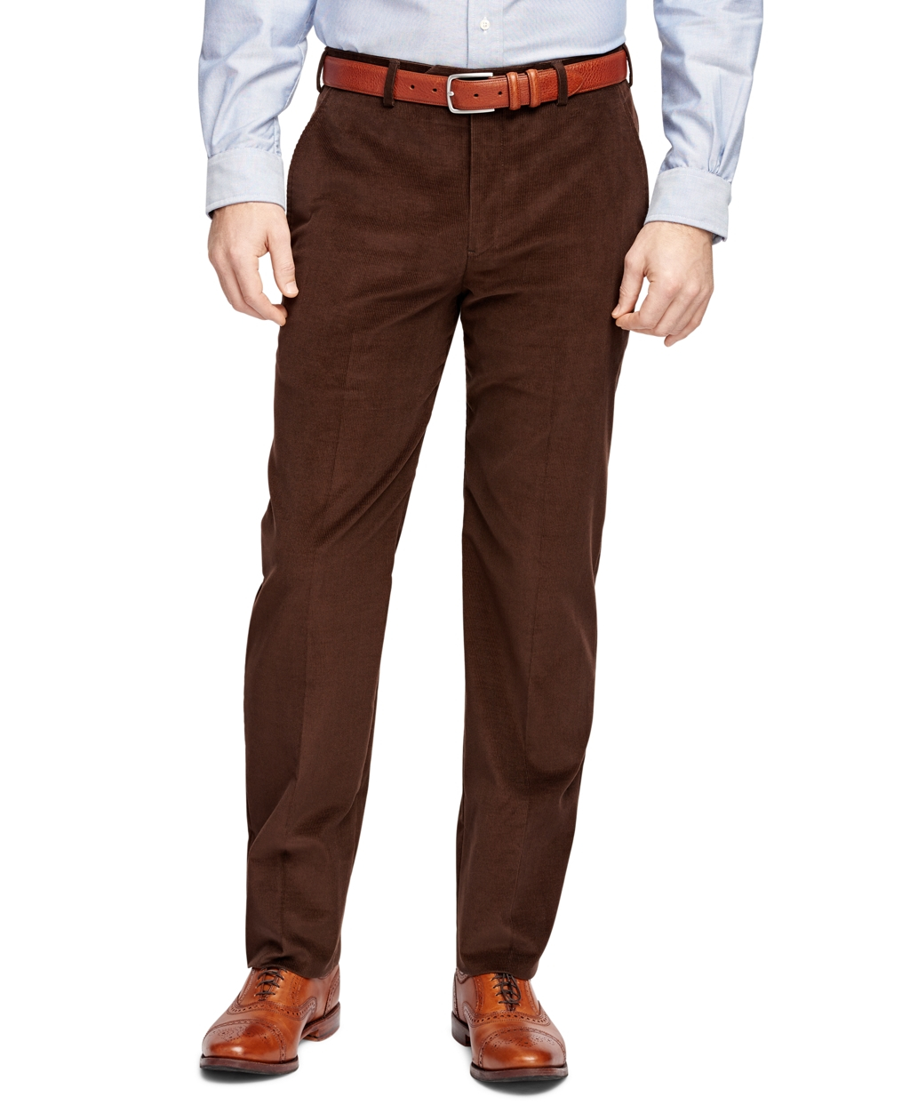 Brooks brothers brown fitzgerald fit corduroy trousers for Brooks brothers dress shirt fit guide
