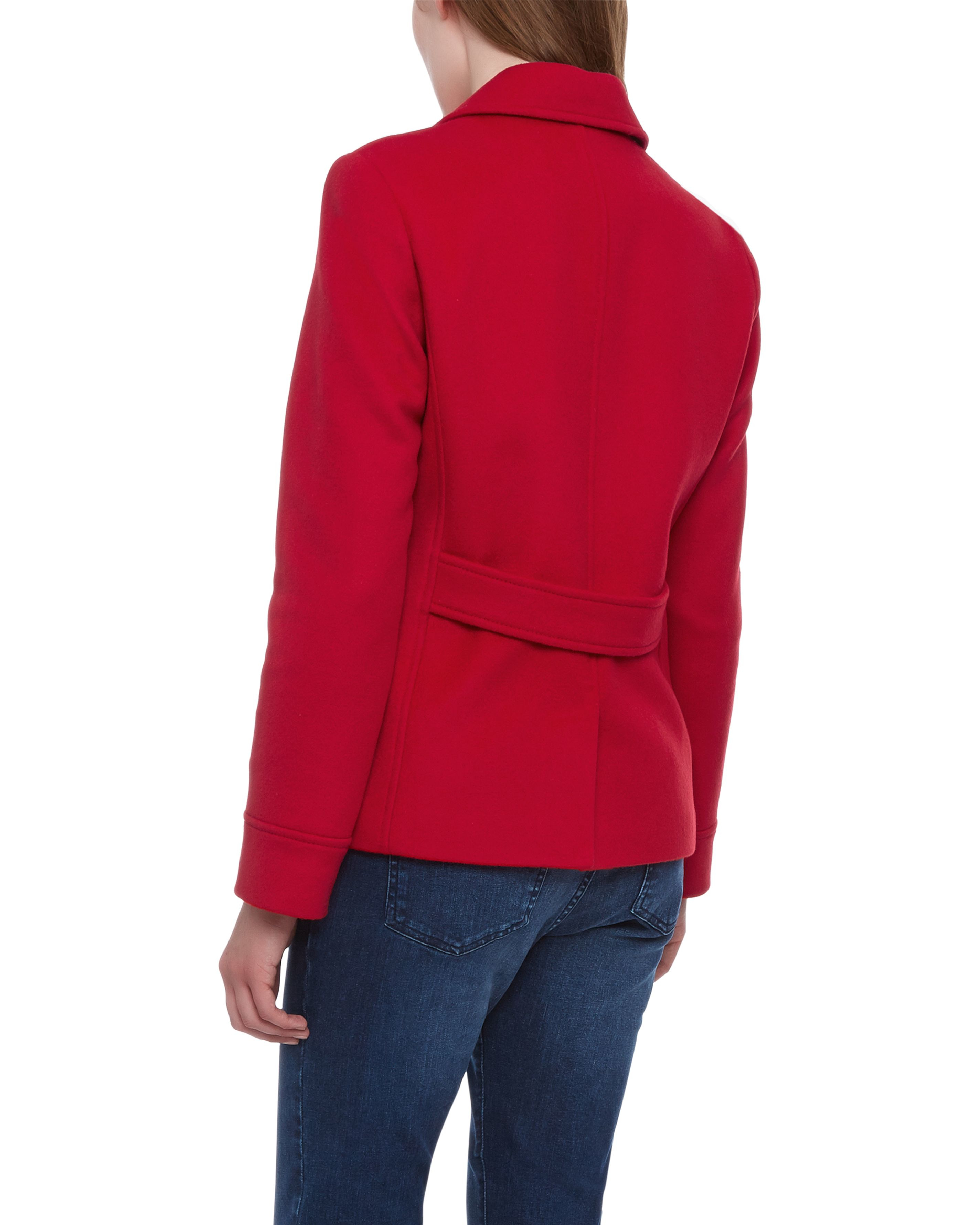 Jaeger Wool Classic Pea Coat in Red | Lyst