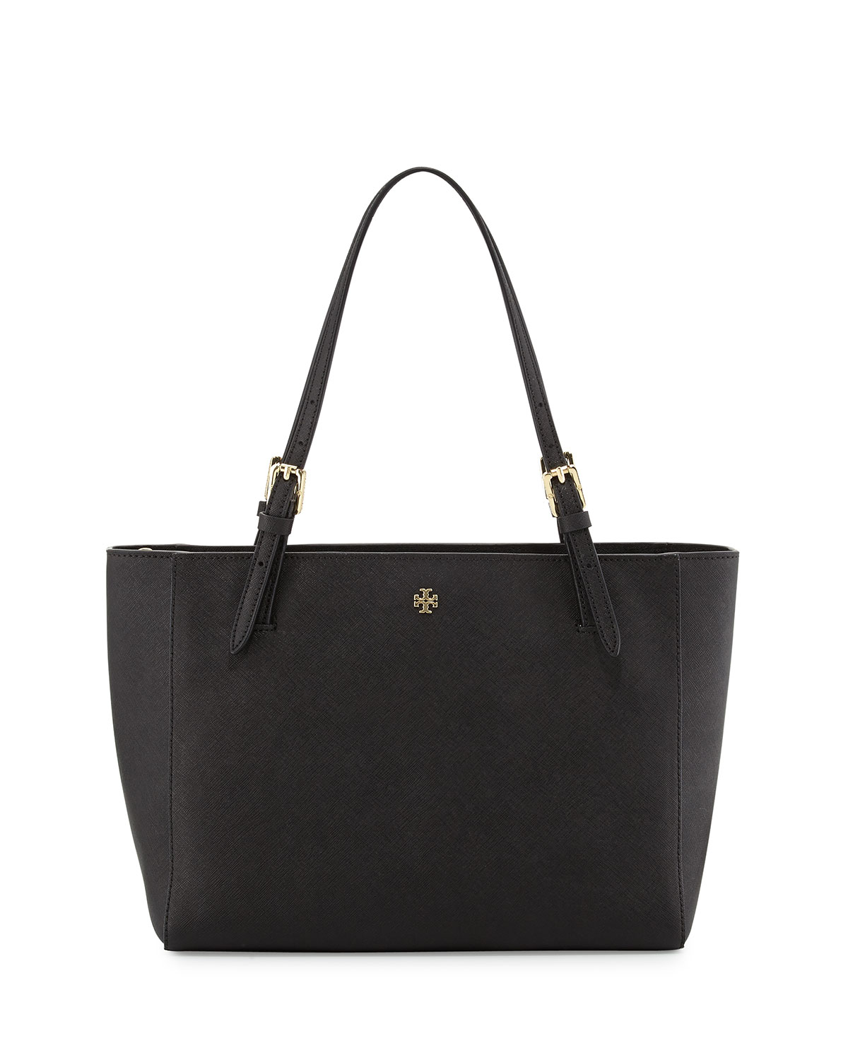 Tory burch York Small Saffiano Tote Bag in Black